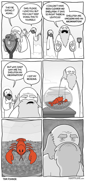 god,abomination,critters,shellfish,web comics