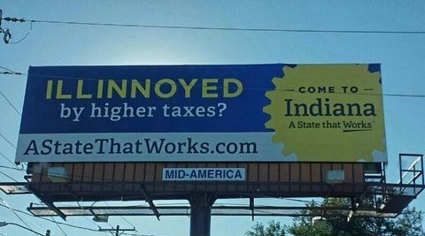 Indiana,illinois,taxes,states