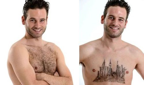 hair body hair poorly dressed skyline chest hair - 8315907584