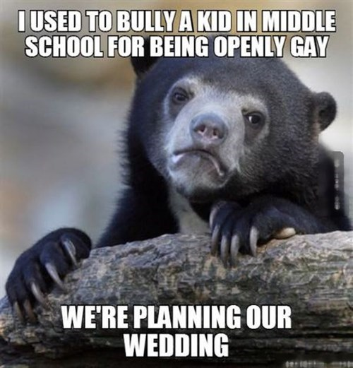 lgbtq,bully,Confession Bear