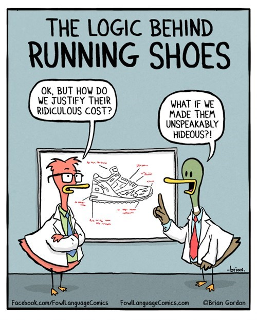 shoes poorly dressed fowl language sneakers web comics - 8316628224