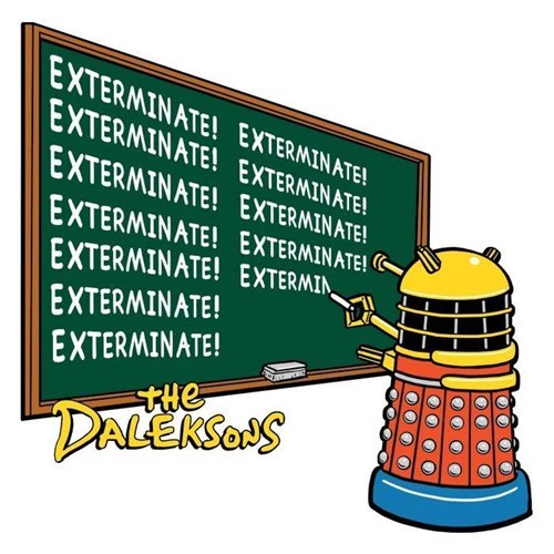 Exterminate daleks the simpsons - 8316643584
