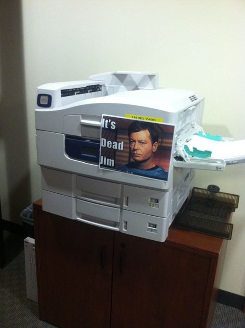 monday thru friday,sign,Star Trek,printer,g rated