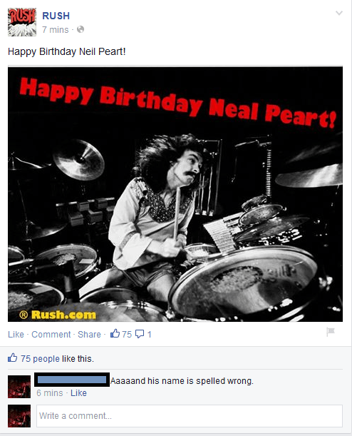 facebook rush neil peart - 8316682752