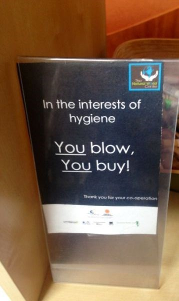 monday thru friday,sign,hygiene,retail,warning