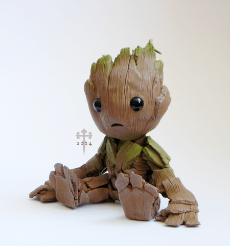 Fan Art guardians of the galaxy figure groot - 8316787200
