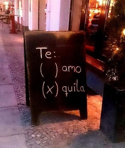 sign tequila pub love funny