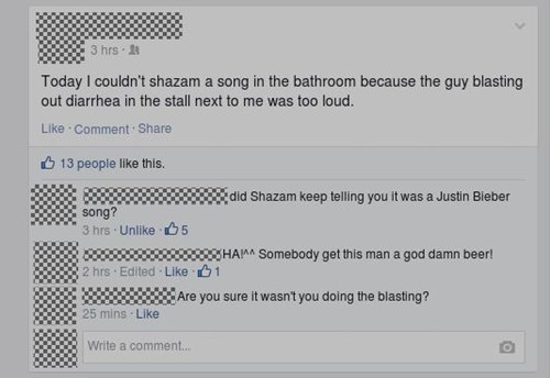 Music,gross,bathroom,justin bieber