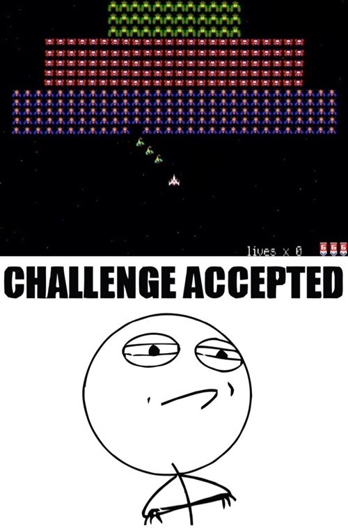 impossible Challenge Accepted galaga - 8316931328