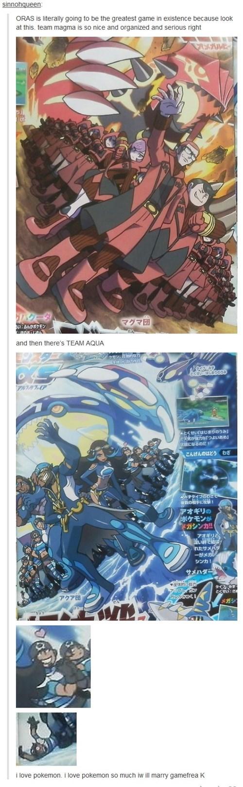 Pokémon ORAS team aqua team magma funny - 8317287168