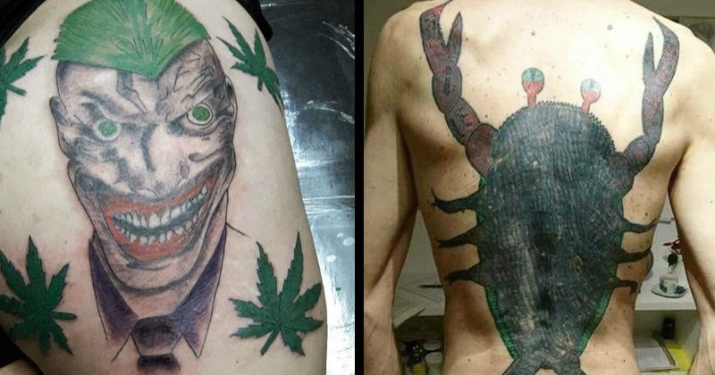 jesus Sad misspelled tattoos joker FAIL cringe tattoos misspelling Ugliest Tattoos cheap funny stupid - 8317701