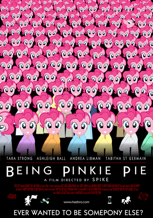 spoof poster pinkie pie being jonh malkovich - 8318319616