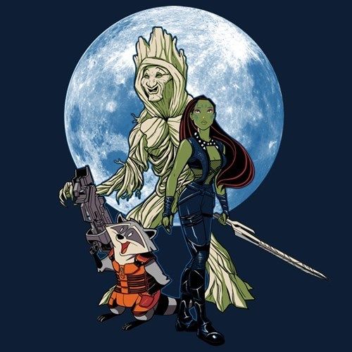 pocahontas guardians of the galaxy tshirts for sale - 8318679296
