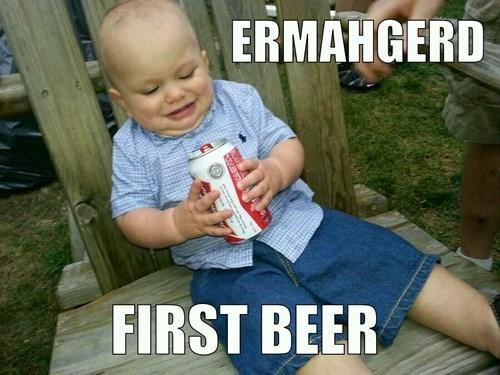 beer,baby,Ermahgerd,funny