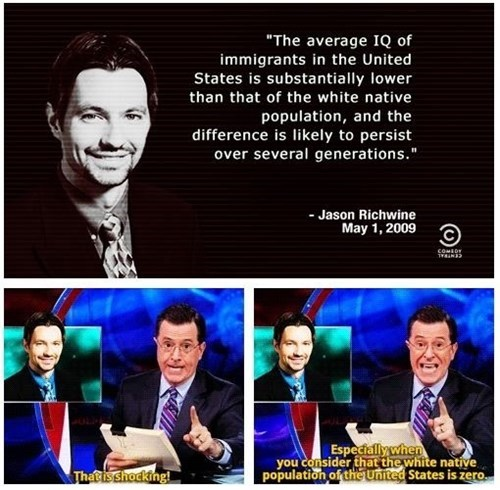 stephen colbert white people native americans funny - 8319163392