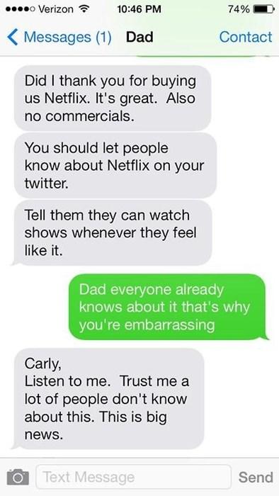 dads texting netflix - 8319262976
