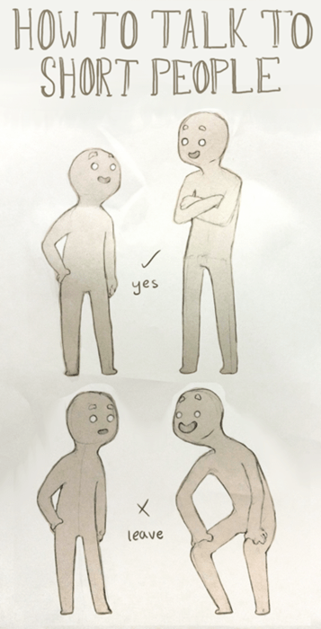 guide talking short people web comics