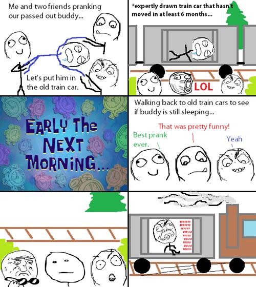 prank,train