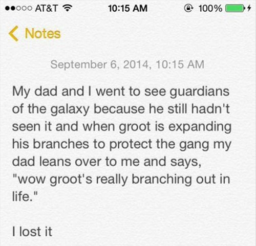 guardians of the galaxy,dad jokes,puns,parenting,dad,groot,g rated