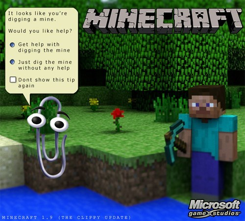 clippy minecraft microsoft - 8319355904