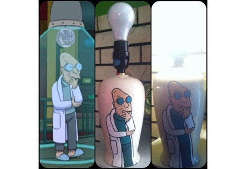 lamp,DIY,futurama