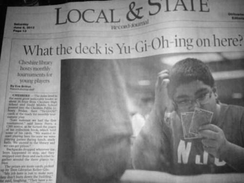 headline,puns,Yu Gi Oh,newspaper