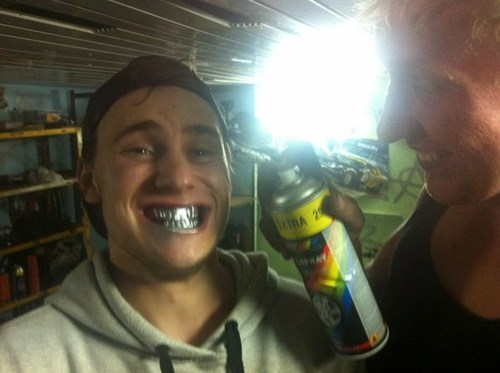 bad idea,teeth,spray paint,fail nation,g rated