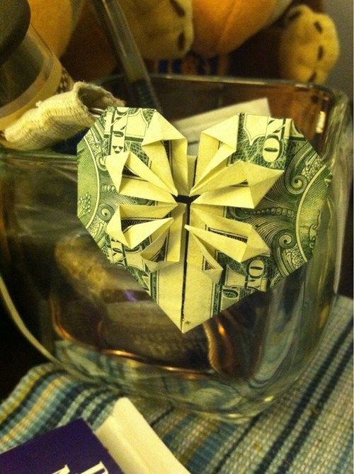 tips origami tipping money