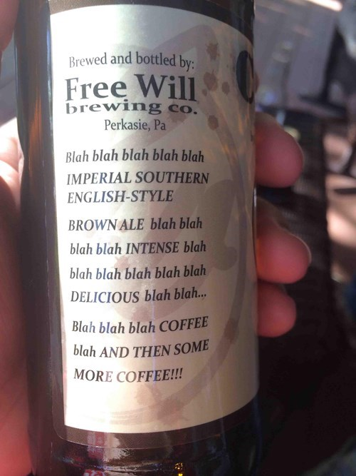 beer label coffee funny - 8319685632
