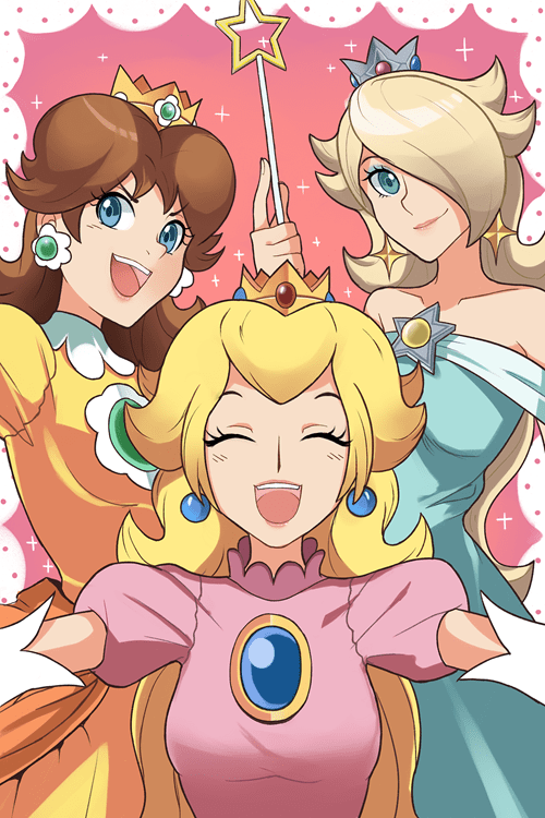 Fan Art,peach,daisy,rosalina,mario