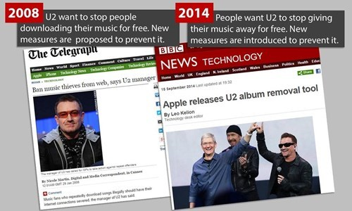u2,Music,iTunes,piracy,free stuff