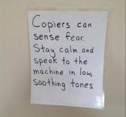 monday thru friday copier sign copy machine - 8320076288