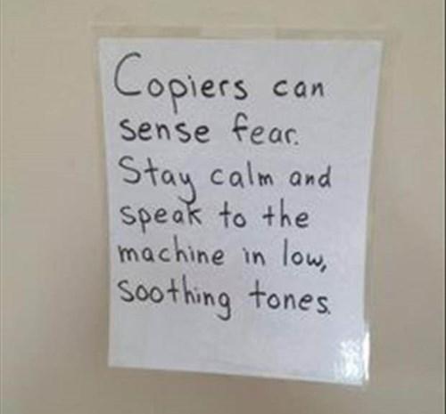 monday thru friday copier sign copy machine - 8320076288
