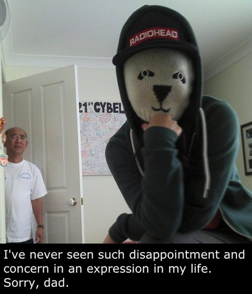 disappointed,kids,mask,parenting,dad,selfie,g rated
