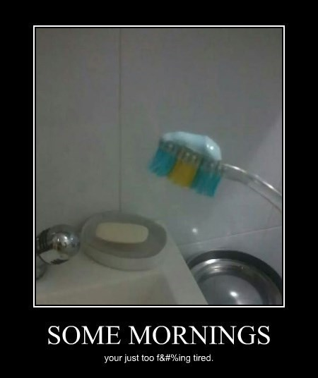 tired,morning,funny,toothbrush