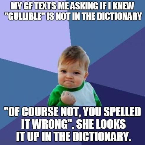 success kid gullible - 8320163840