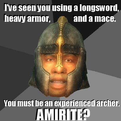guards,the elder scrolls,idiots,video game logic