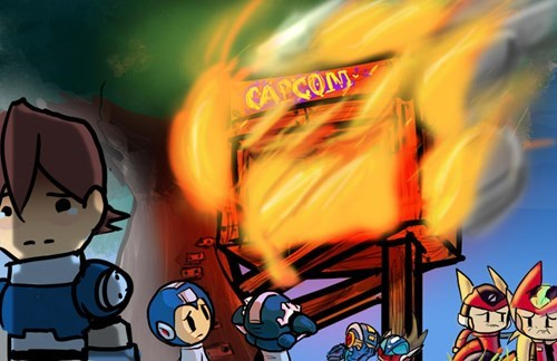 no fans in sight mega man capcom - 8320237312