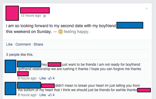 facebook,rejected,dating