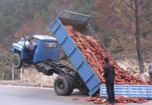 bricks whoops bad day truck