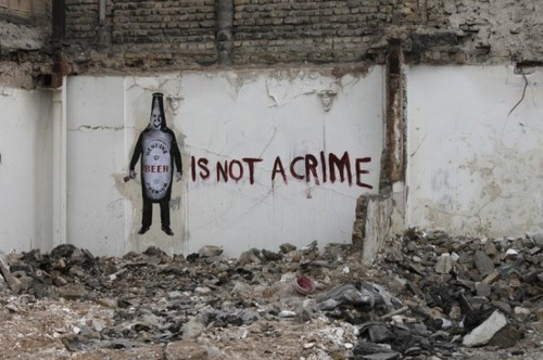 beer screwed crime graffiti funny - 8320826624