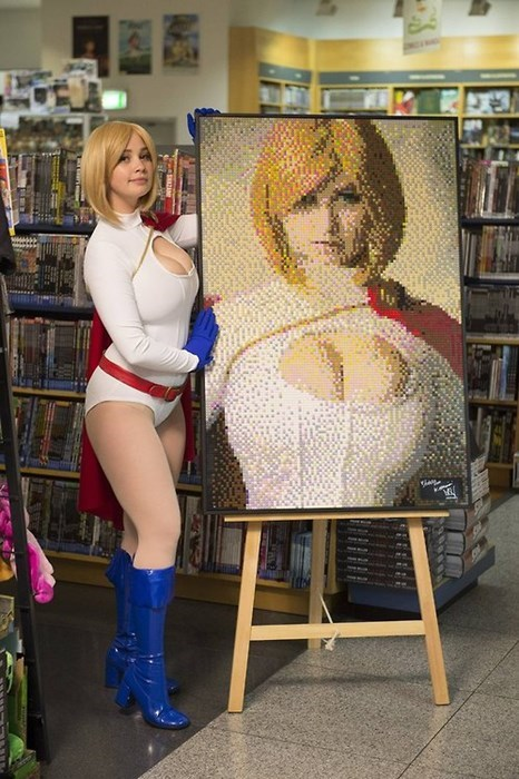 cosplay,lego,power girl,portrait