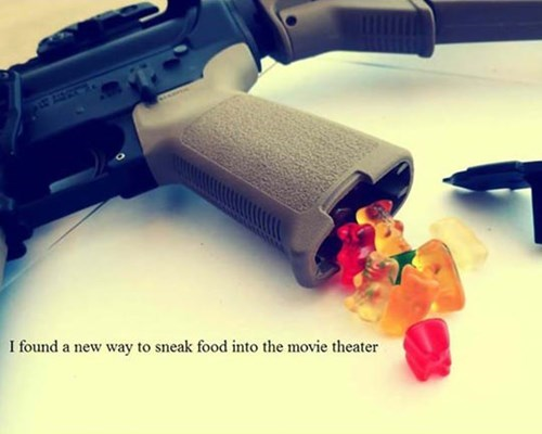 guns,gummi bears