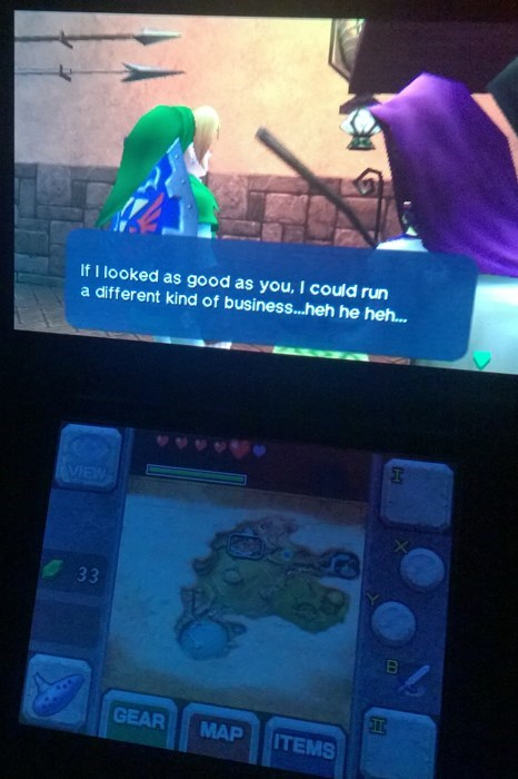 wait what,evil laugh,3DS,zelda