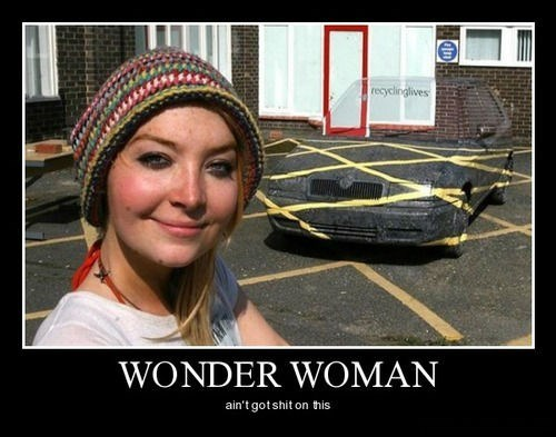 wonder woman,car,invisible,funny