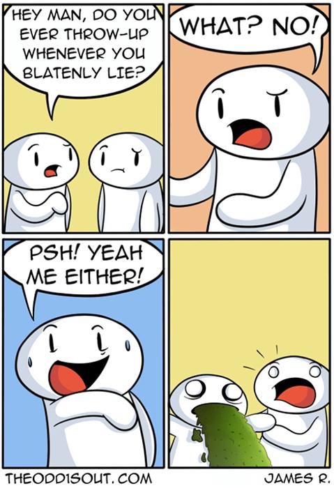 lies,throw up,web comics