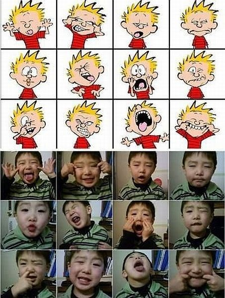 face calvin and hobbes kids expression parenting - 8321298944