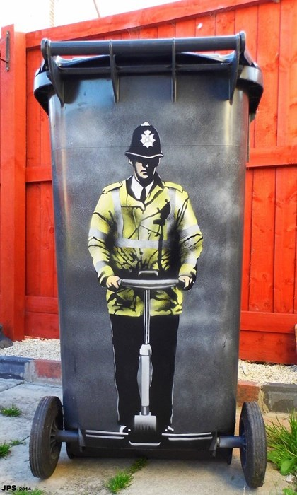 cops Street Art hacked irl segway - 8321318400
