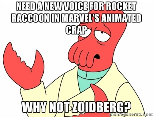 rocket raccoon,Zoidberg