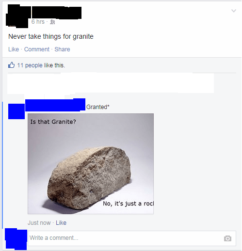 rock facepalm puns spelling failbook g rated